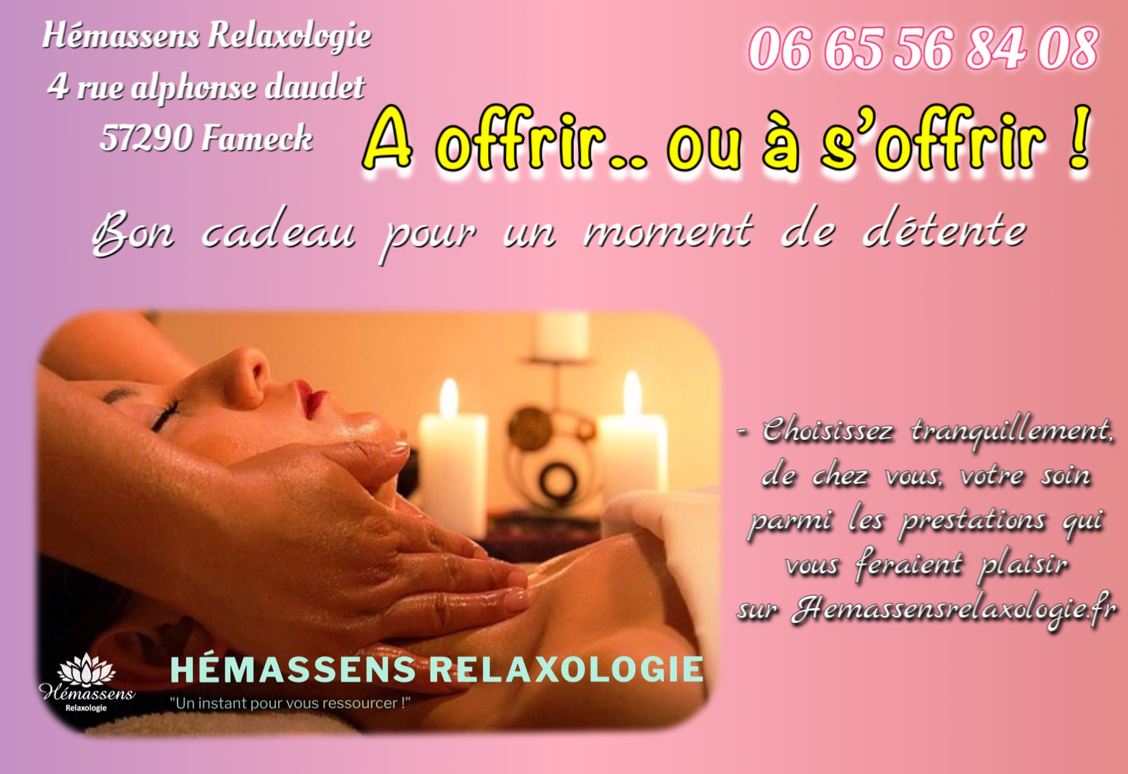 Bon cadeau Hémassens Relaxologie à offrir